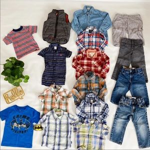 Toddler Boys Clothing Lot Box 5lbs Button Downs 2T